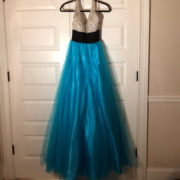 Johnathan Kayne Dresses & Skirts - Johnathan Kayne Stoned Halter Pageant Prom Gown